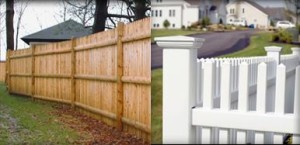 Wood and Vilyl Fencing