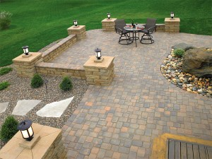 Brick patio and walkways